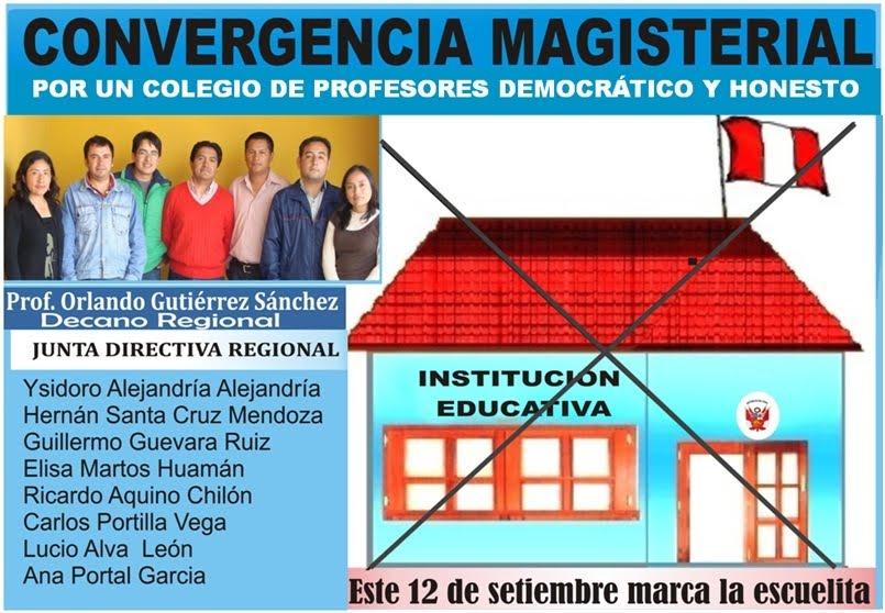 4976a82201 Vota por Convergencia Magisterial.